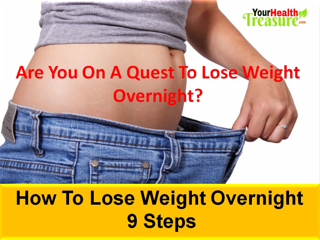 need to lose water weight overnight