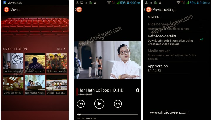 Sony Xperia walkman Music Movie apk download | Droidgreen