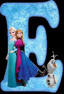 Alfabeto De Ana Elsa Y Olaf De Frozen Oh My Alfabetos