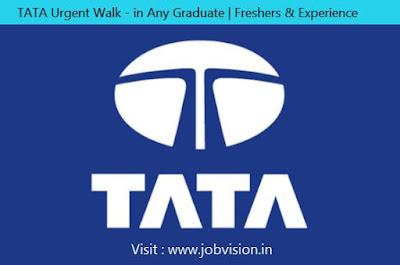 TATA Urgent Walk-in Any Graduate