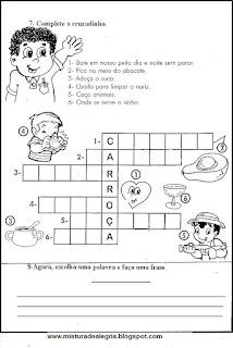 Avaliação de português para 5º ano
