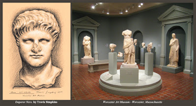 Nero. Ancient Roman Emperor. 64-68 AD. Worcester Art Museum. by Travis Simpkins