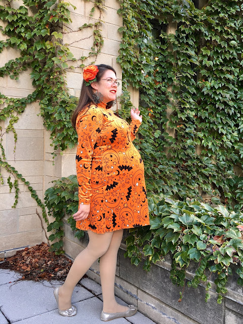 velvet Halloween dress maternity