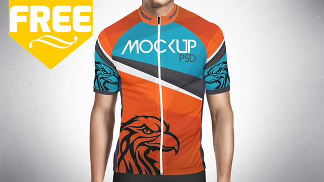Download Bike Jersey Mockup | PSD | Free