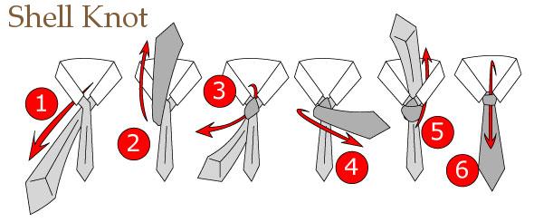 Cara Memakai Dasi SMP shell knot