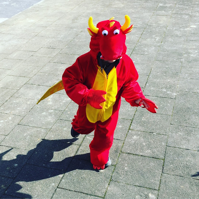 Drachenkostüm für kleine Drachen - Karneval