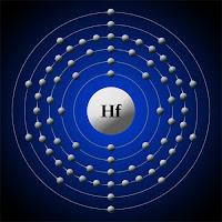 Hafniyum atomu ve elektronları