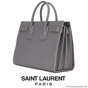 Princess Iman carried SAINT LAURENT Sac de Jour Tote