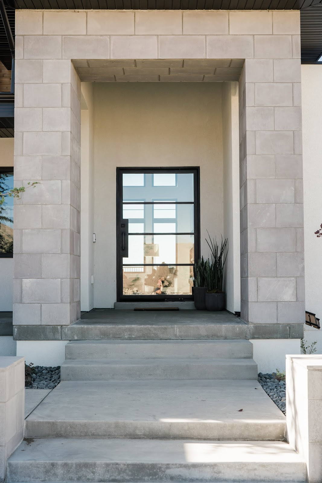 Modern Home Entry Way, Modern Front door, Industrial Front Door