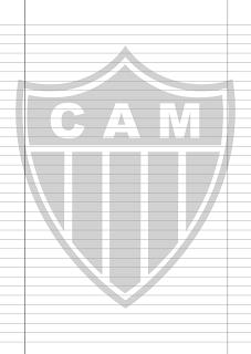 Papel Pautado Atletico Mineiro PDF para imprimir na folha A4