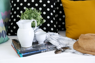 house decor particular cushions vase books