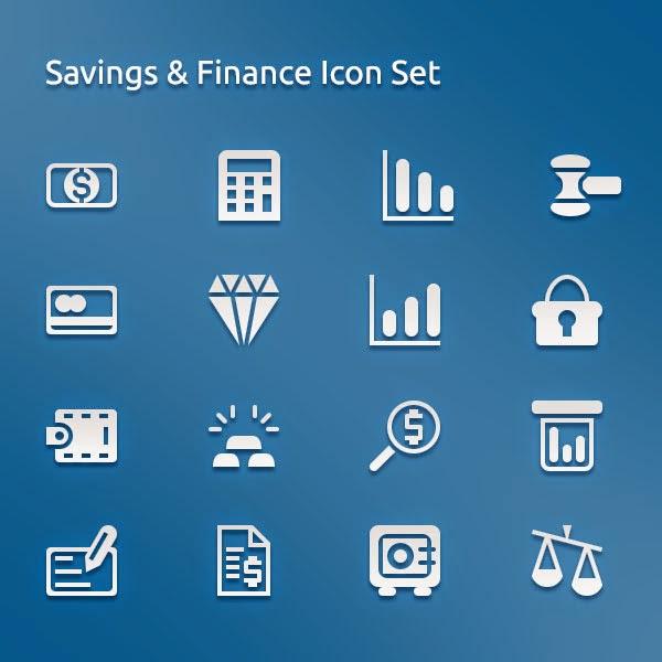 Saving And Finance Icons Set