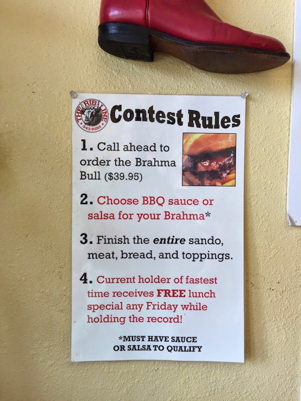 The food challenge at The Rib Line in San Luis Obispo