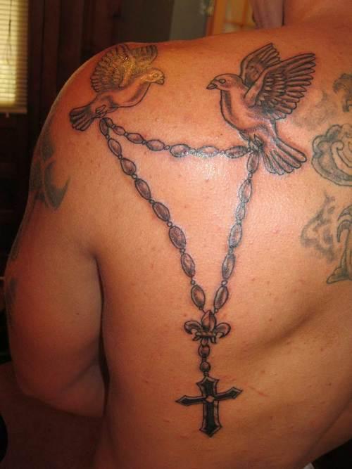 lejouroujesuismorte: Small Rosary Tattoos On Back Body Ideas