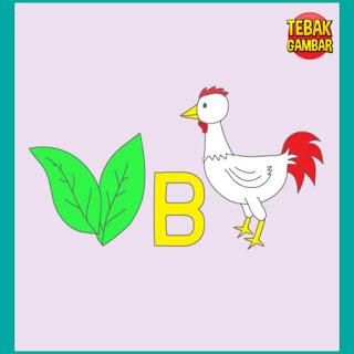 Tebak Gambar Daun Huruf B dan Ayam
