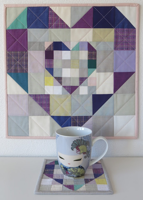 Luna Lovequilts - Heart mini quilts - Pattern by Jayne at Twiggy and Opal