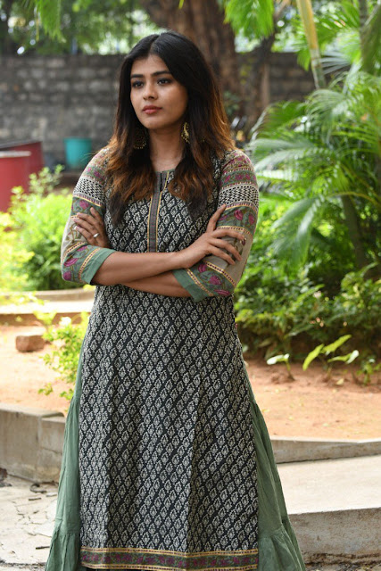 Actress Hebah Patel Stills at Angel Movie press meet