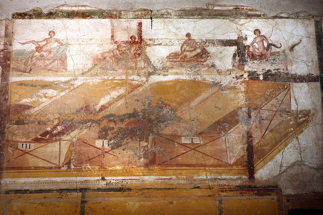 Pompeii 'Suburban Baths' restoration shows off Roman erotic frescoes