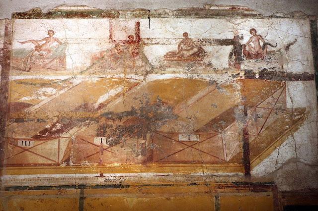 Pompeii 'Suburban Baths' restoration shows off Roman erotic frescoes