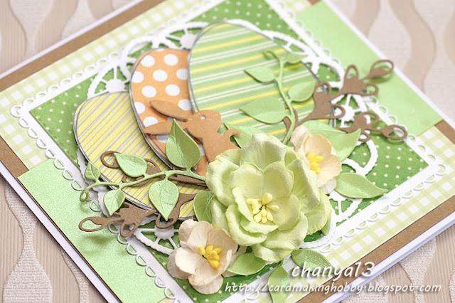 ozdoby wielkanocne -zając, jajka i kwiaty