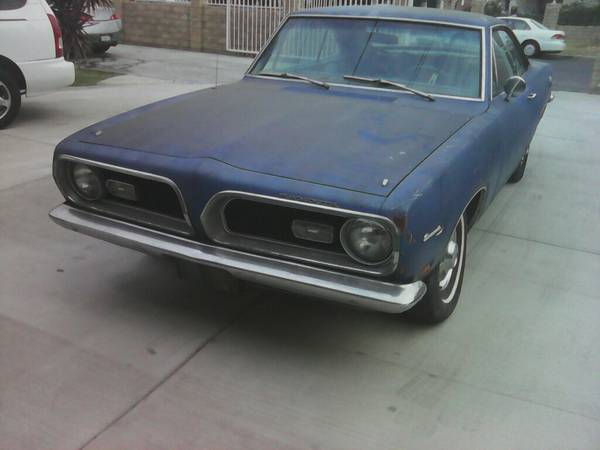 Rare Classic Plymouth Barracuda