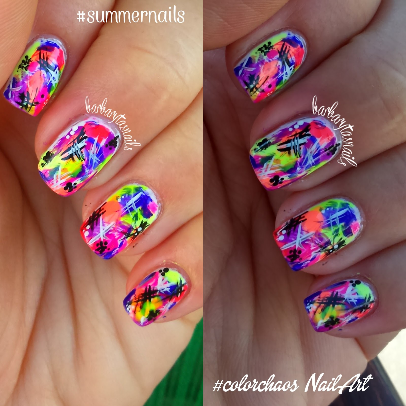 spesso Color Chaos Nail Art | Barbaryta's Nails CT83