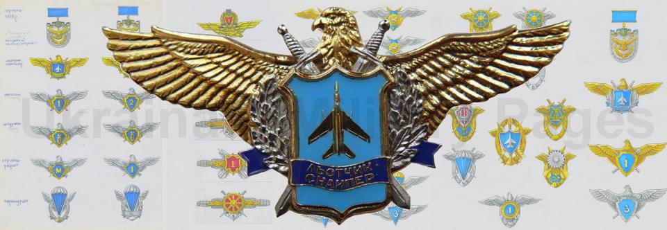 Історія створення нагрудних знаків і знаків класності ВПС