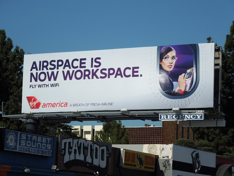 Virgin Airspace now workspace billboard
