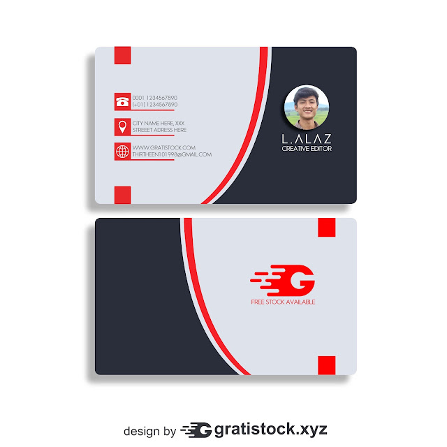 Free Download PSD Mockup OF Black-business-card-with-red-lines