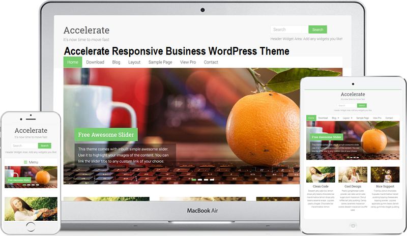 Accelerate Responsive Business WordPress Theme Free Download