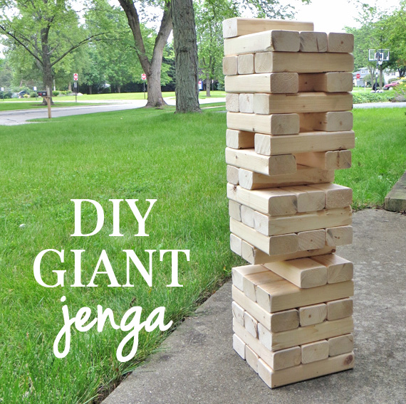 how to make giant jenga game