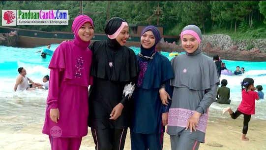 Koleksi Contoh Model Baju Renang Wanita Muslimah Murah Rabbani Elzatta dan Edora