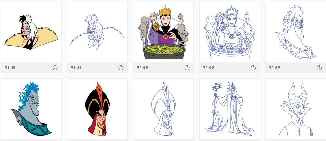 Obsessed with Scrapbooking: NEW Disney Villains Cricut Cartridge AND