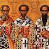 30 ΙΑΝΟΥΑΡΙΟΥ!!ΕΟΡΤΗ ΤΡΙΩΝ ΙΕΡΑΡΧΩΝ!!Μέγας Βασίλειος Γρηγόριος Θεολόγος και Ιωάννης Χρυσόστομος!!   Τους τρεις μεγίστους φωστήρας της τρισηλίου Θεότητος, τους την οικουμένην ακτίσι δογμάτων θείων πυρσεύσαντας, τους μελιρρύτους ποταμούς της σοφίας, τους την κτίσιν πάσαν θεογνωσίας νάμασι καταρδεύσαντας, Βασίλειον τον μέγαν, και τον Θεολόγον Γρηγόριον, συν τω κλεινώ Ιωάννη, τω την γλώτταν χρυσορρήμονι, πάντες οι των λόγων αυτών ερασταί, συνελθόντες ύμνοις τιμήσωμεν· αυτοί γαρ τη Τριάδι, υπέρ υμών αεί πρεσβεύουσιν.