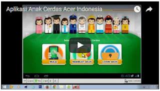 ScreenShoot Aplikasi Anak cerdas ACER