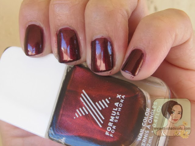 Formula X For Sephora Nail Color In Brainchild And Blazing Swatches Review The Shades Of U