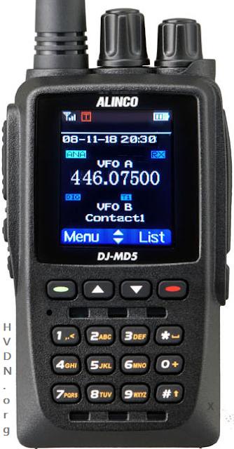 Alinco DMR dual band radio MD-5TGP HVDN