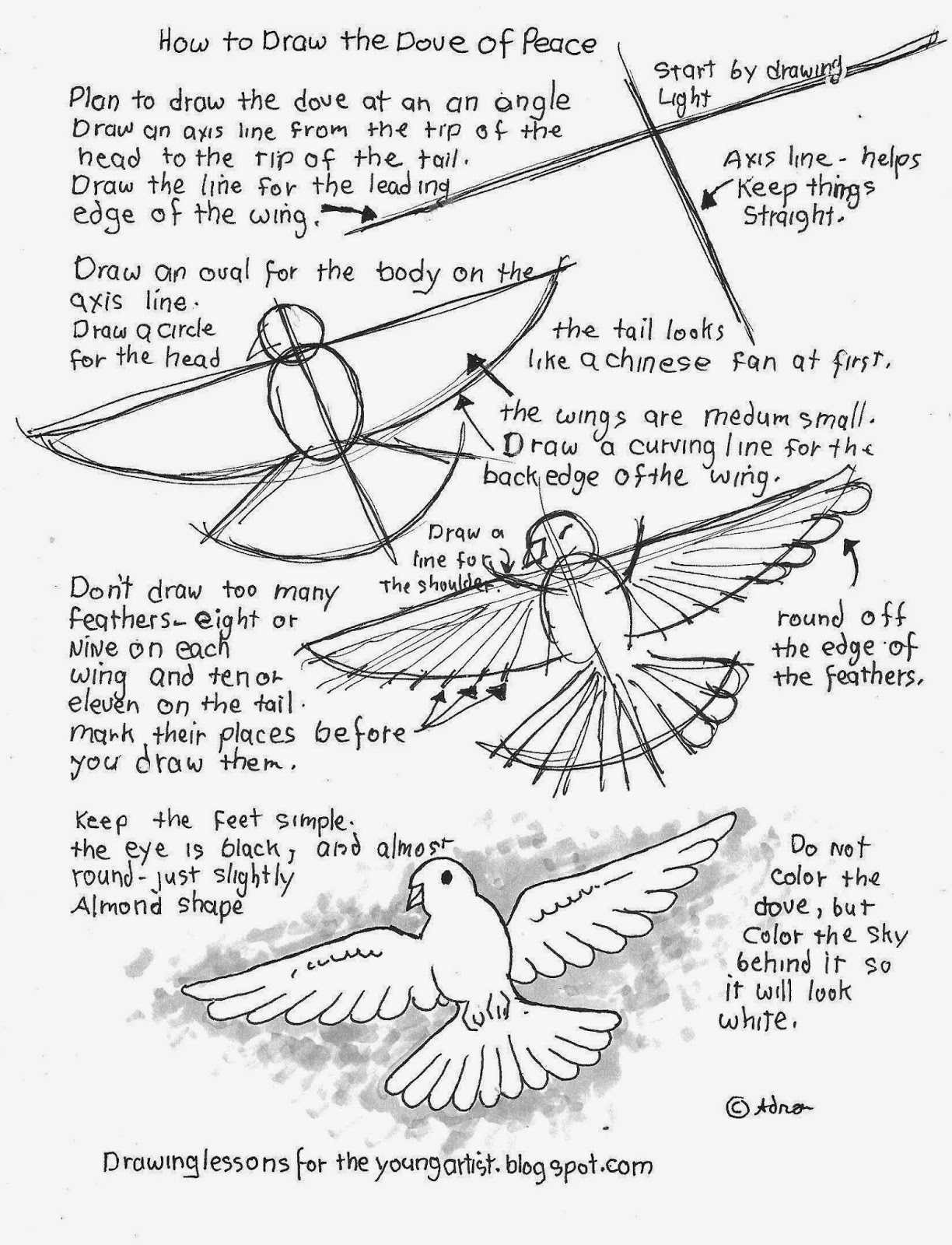 worksheet How To Draw Printable Worksheets how to draw worksheets for the young artist dove of free a peace worksheet