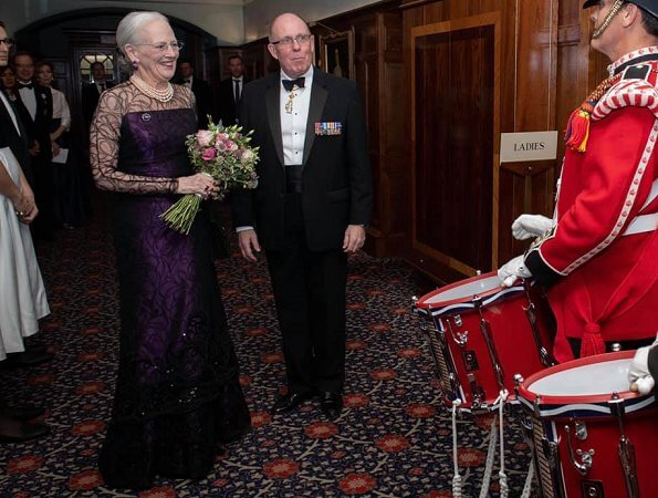 Queen Elizabeth and Queen Margrethe at gala. Duchess of Gloucester is the Protector of the scholarship programme