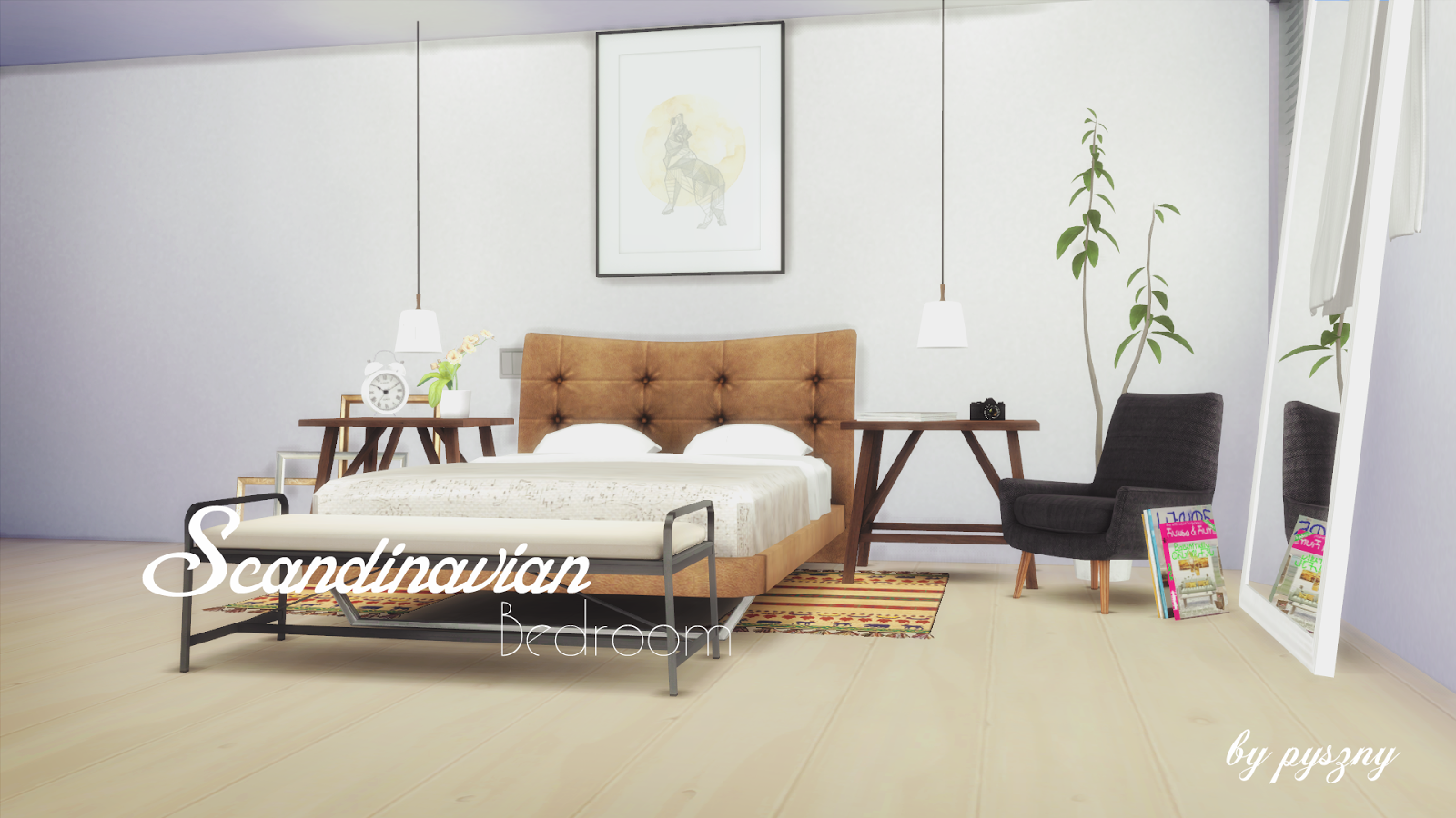 Scandinavian Design Bedroom Set My Sims 4 Blog Scandinavian Bedroom Set By Pyszny