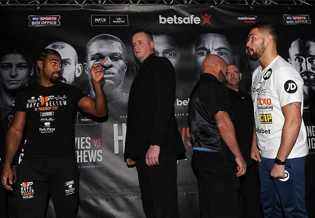 David Haye warns Tony Bellew: 'Enjoy your last days'