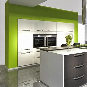 Cocinas color verde colores en casa for Cocinas verdes modernas