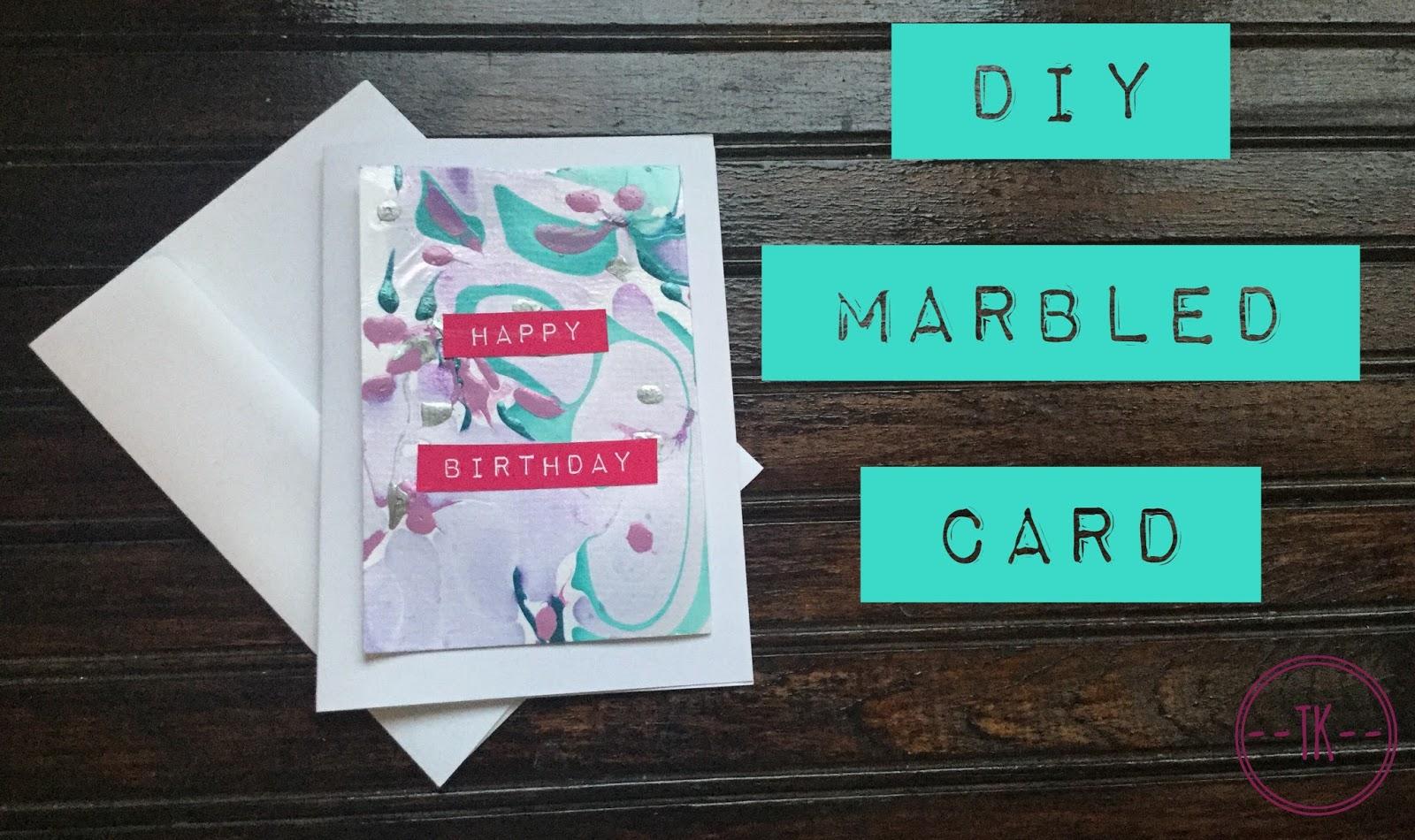 diy marbled card