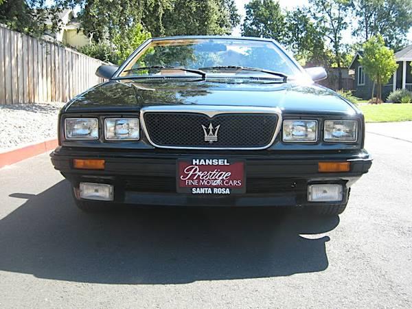 Daily Turismo: 10k: Top Down, Hood Up; 1989 Maserati ...