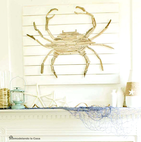 mantel with acrab