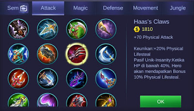 Haas Claws Mobile Legends