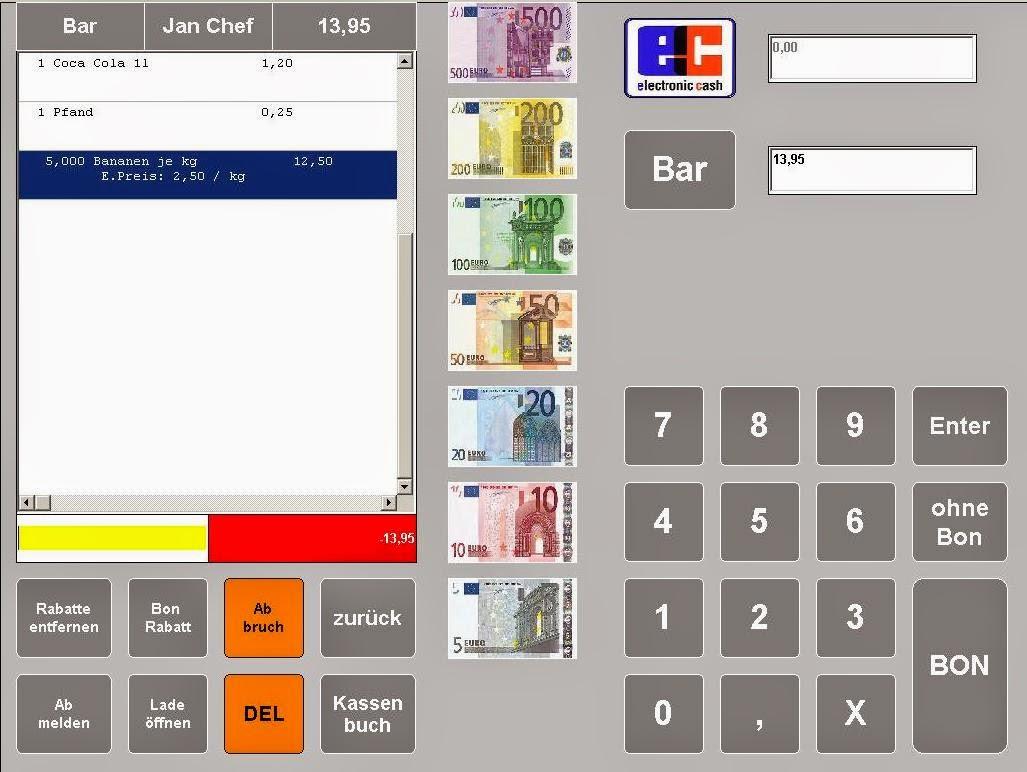 Einzelhandel Kassensoftware