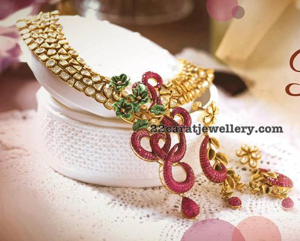 Kundan Choker Invisible Ruby Locket