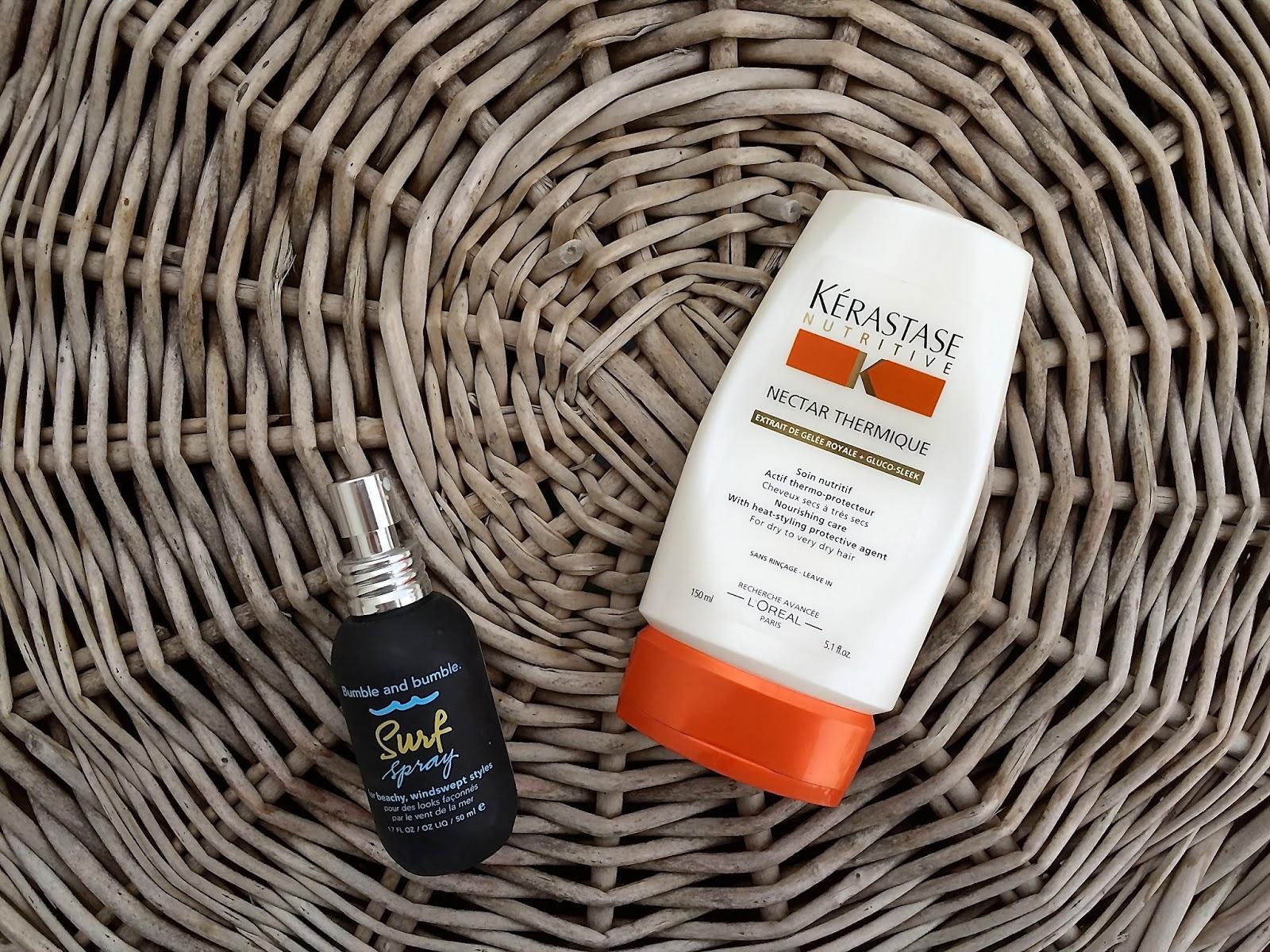 Bumble&Bumble Surf Spray oraz nektar termiczny Kerastase,