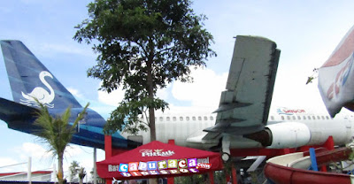 pesawat boeing 737, saygon waterpark, pesawat ditempat wisata,